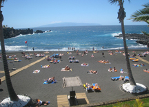 Beach Playa de la Arena Beach in Tenerife