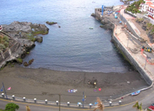 Puerto Santiago Beach and Harbour in Tenerife