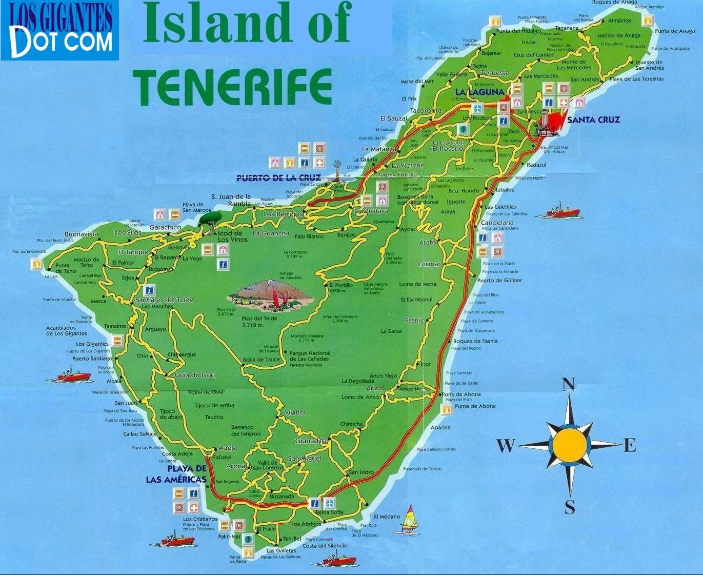 Maps To The Local Area Los Gigantes Puerto Santiago And