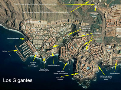 Los Gigantes map