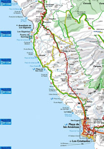 West Coast of Tenerife map