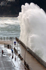 Big Wave San Sebastian Northern Spain