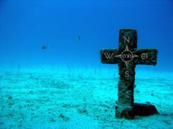 A memorial to two lost divers